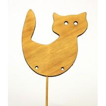 Zwierzątka drewniane do zdobienia - kot